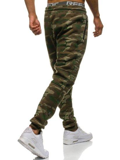 Spodnie męskie dresowe moro multikolor Denley 3771C-A