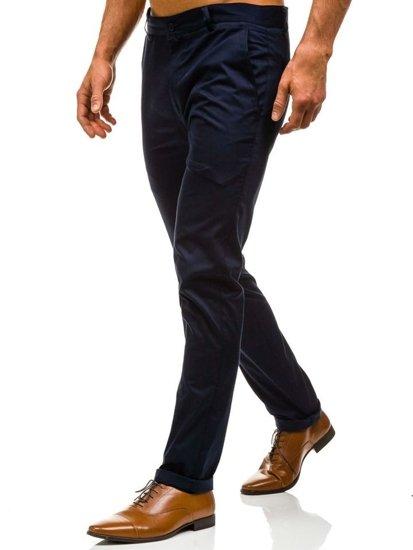 Spodnie wizytowe męskie granatowe Denley 0204