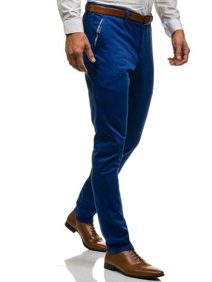 Spodnie wizytowe męskie niebieskie Denley 4326