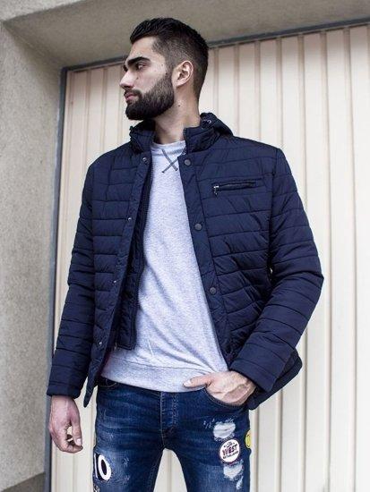 Stylizacja nr 105 - kurtka zimowa, bluza bez kaptura, spodnie jeansowe