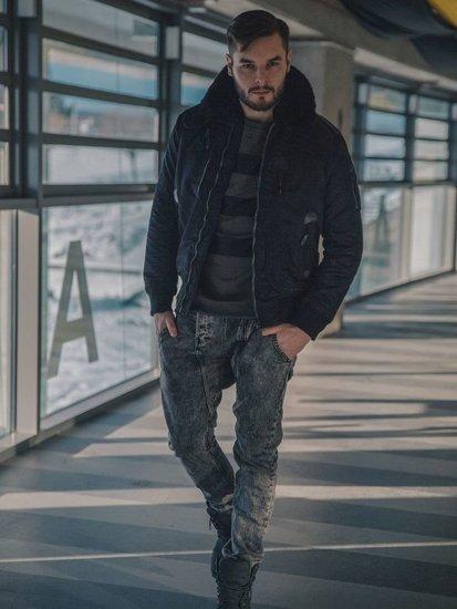 Stylizacja nr 118 - kurtka przejściowa, bluza z nadrukiem, spodnie joggery, buty