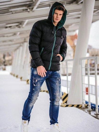 Stylizacja nr 143 - kurtka zimowa, spodnie jeansowe, buty sneakersy