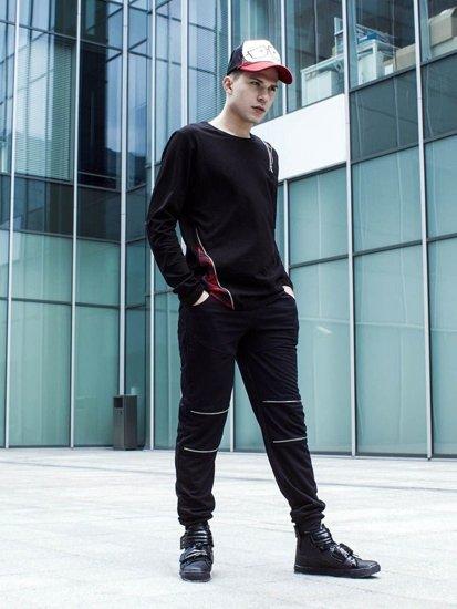 Stylizacja nr 232 - czapka z daszkiem, bluza bez kaptura, spodnie dresowe, buty sneakersy