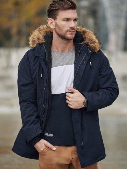 Stylizacja nr 347 - zegarek, kurtka parka, longsleeve, spodnie jeansowe