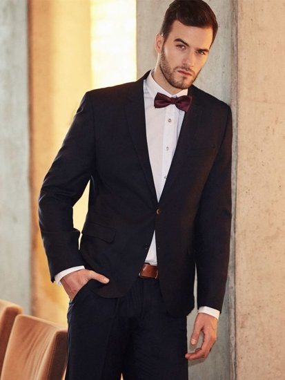 Stylizacja nr 392 - mucha, garnitur, elegancka koszula