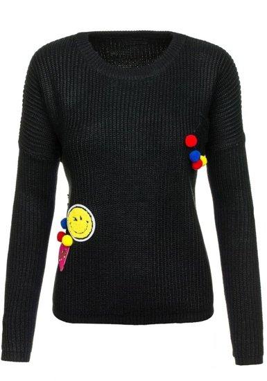Sweter damski czarny Denley 1551