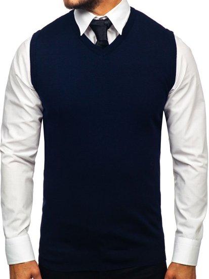 Sweter męski bez rękawów granatowy Denley 2500