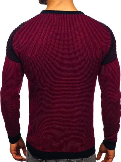 Sweter męski bordowo-granatowy Denley 0004