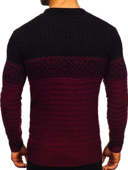 Sweter męski bordowy Denley 309