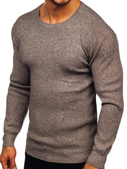 Sweter męski brązowy Denley 8529