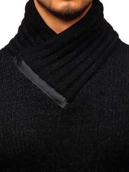 Sweter męski czarny Denley 20002