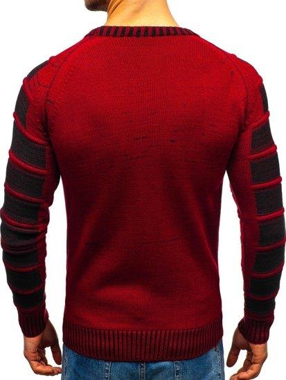 Sweter męski czerwony Denley 6007