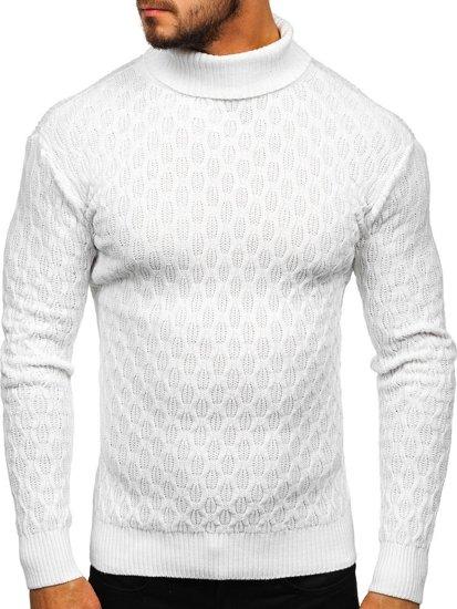 Sweter męski golf biały Denley 501