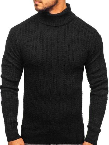 Sweter męski golf czarny Denley 315