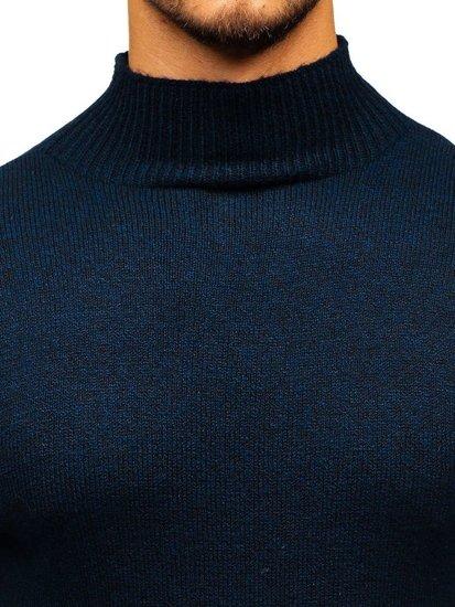 Sweter męski golf granatowy Denley H1801