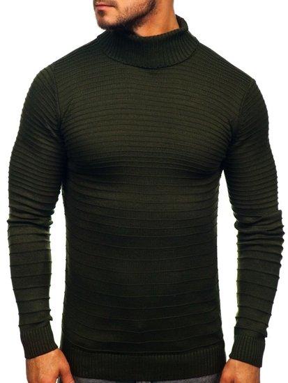 Sweter męski golf zielony Denley 4518
