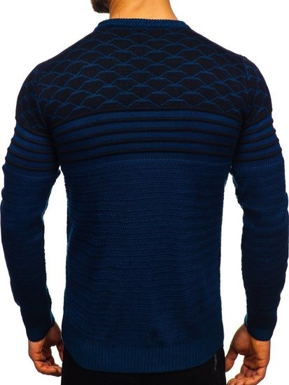 Sweter męski niebieski Denley 314