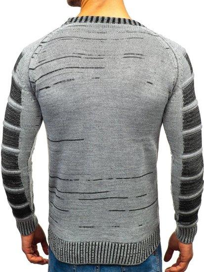 Sweter męski szary Denley 6007