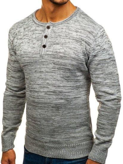 Sweter męski szary Denley H1821