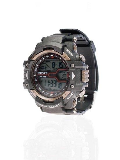 Zegarek męski na rękę czarno-brązowy Denley 8338
