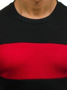 Bluza męska bez kaptura bez nadruku czarna Denley J28