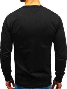 Bluza męska bez kaptura czarna Denley 1221