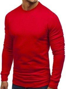 Bluza męska bez kaptura czerwona Denley 01