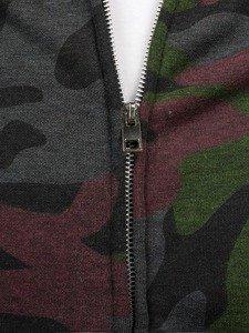 Bluza męska bez kaptura moro-bordowa Denley 2538A