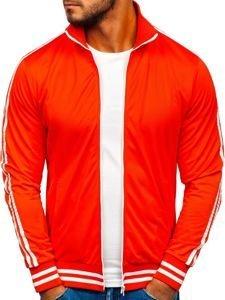 Bluza męska bez kaptura rozpinana pomarańczowa Bolf 11112