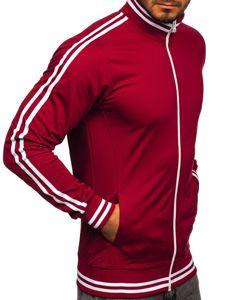 Bluza męska bez kaptura rozpinana retro style bordowa Bolf 11113