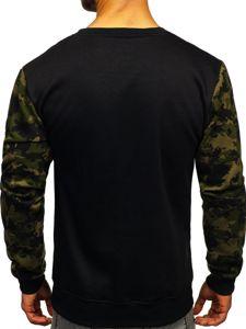 Bluza męska bez kaptura z nadrukiem zielona Denley 22052