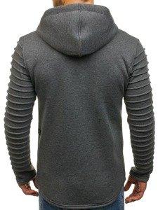 Bluza męska z kapturem antracytowa Denley 6010