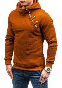 Bluza męska z kapturem camelowa Denley MARIO