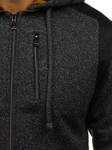 Bluza męska z kapturem czarna Denley 1713