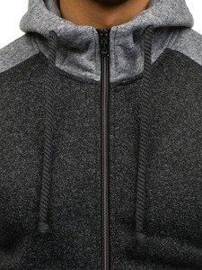 Bluza męska z kapturem czarna Denley 1743