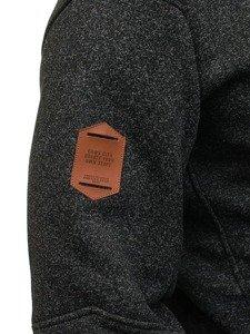 Bluza męska z kapturem czarna Denley 3563