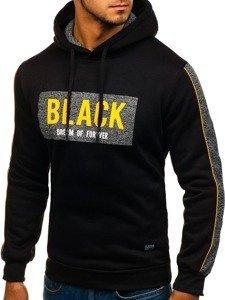Bluza męska z kapturem czarna Denley HY294