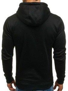 Bluza męska z kapturem czarna Denley XHP1003