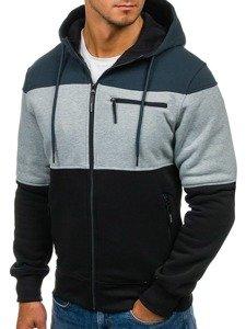 Bluza męska z kapturem czarno-grafitowa Denley 2012