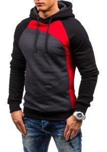 Bluza męska z kapturem czerwona Denley JACK