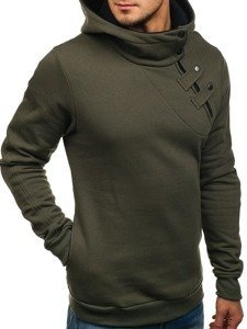 Bluza męska z kapturem khaki Bolf 06S