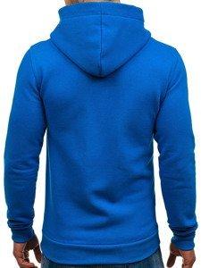 Bluza męska z kapturem niebieska Denley 02