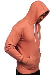 Bluza męska z kapturem różowa Bolf 1004