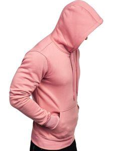 Bluza męska z kapturem różowa Denley 2009