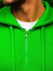Bluza męska z kapturem rozpinana jasnozielona Denley 2008