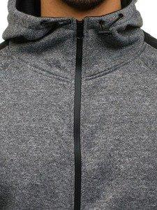 Bluza męska z kapturem szara Denley 2917