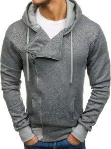 Bluza męska z kapturem szara Denley A83