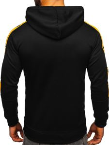 Bluza męska z kapturem z nadrukiem czarna Denley 8913