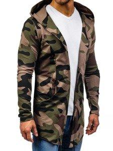 Bluza męska z kapturem zielona Denley 0790