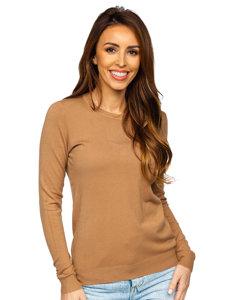 Brązowy sweter damski Denley CB95093C